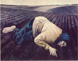 """The Earth"" (Zemliia) Painting by Bohdan Pevny, 1963, dedicated to the memory of the 1933 famine in Ukraine."