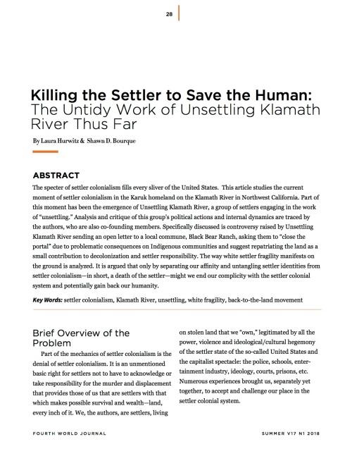 kill the settler